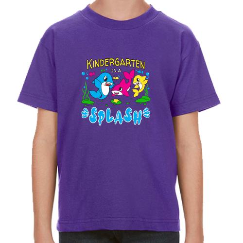 Kindergarten is a splash: Tee