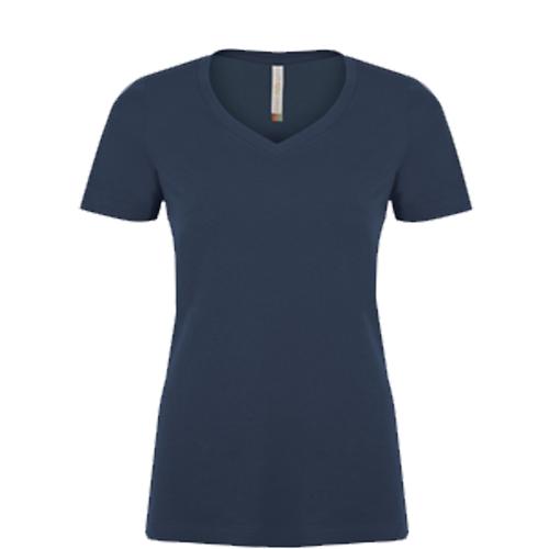 Navy V-neck Ladies Tee: