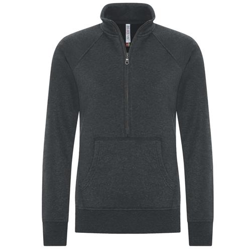 Atc Ladies 1/2 Zip Sweatshirt: