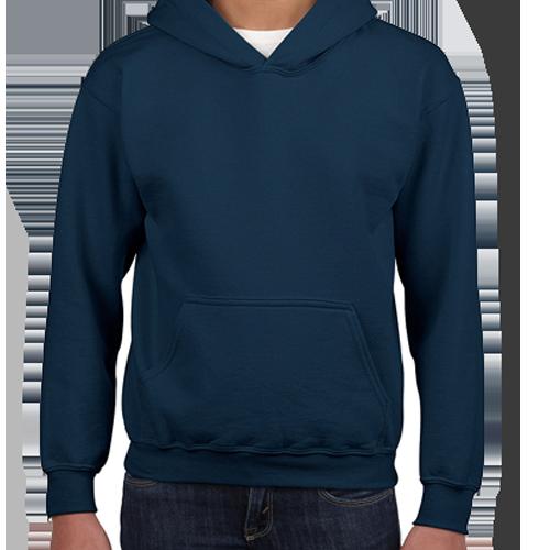 Navy Pullover Hoodie: