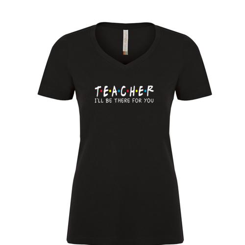 Teacher Graphic Tee: Ladies Vneck