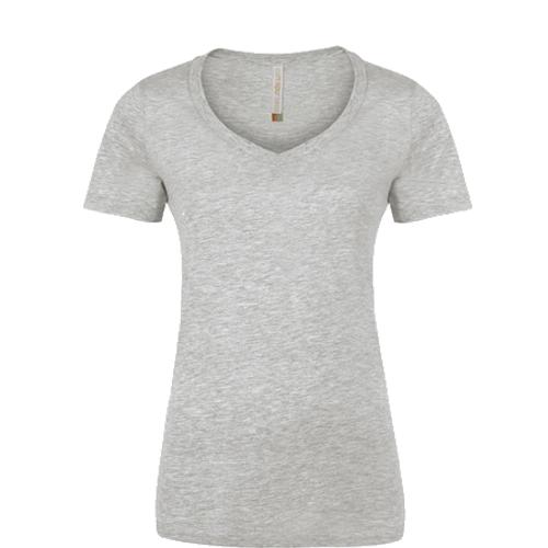 Sport Grey V-neck Ladies Tee: